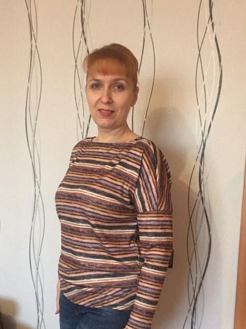 Пуловер асимметричного кроя №113 A