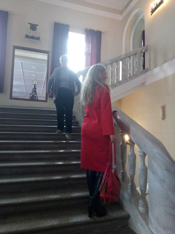 Красное уютное платье от Лямочка