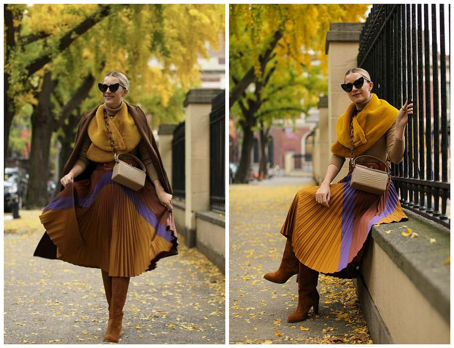 C чем носить плиссированную юбку осенью: 5 актуальных идей