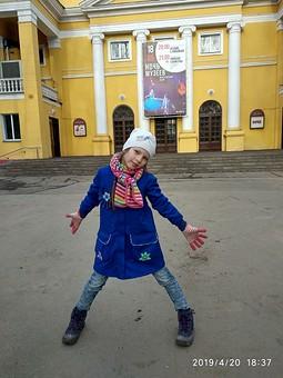 Работа с названием Плащ-пальто для девочки