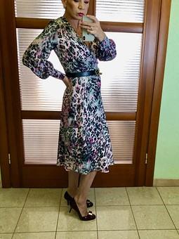 Работа с названием Платье №109 Burda 8/2019
