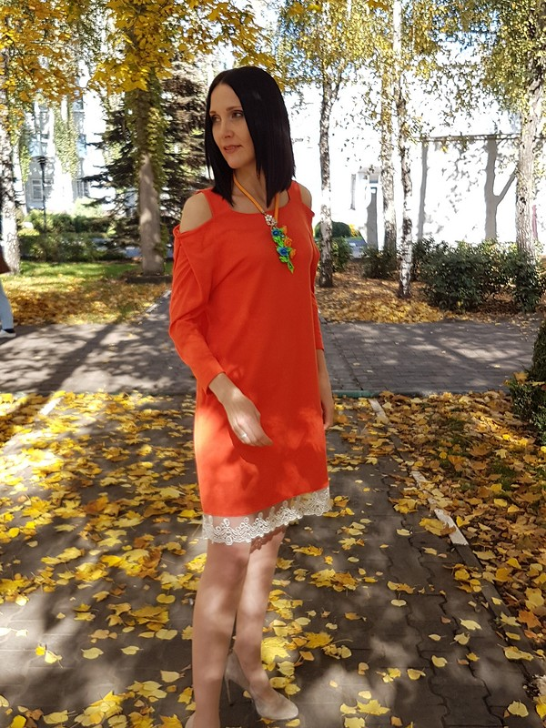 Померанцевое платье