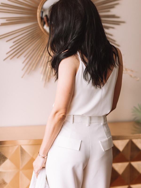Широкие белые брюки от youlex