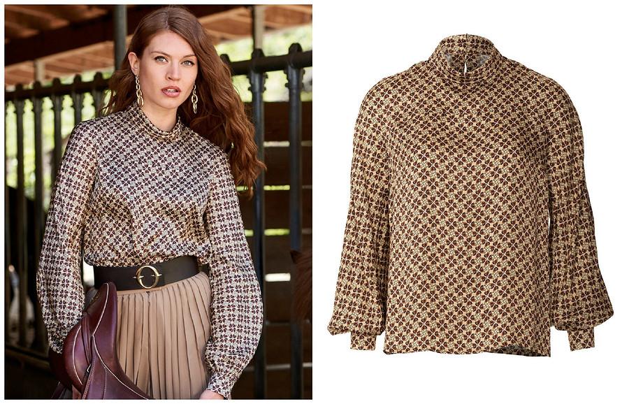 Выкройка месяца: элегантная блузка своротником-стойкой