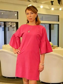 Работа с названием Мини-платье с воланами
