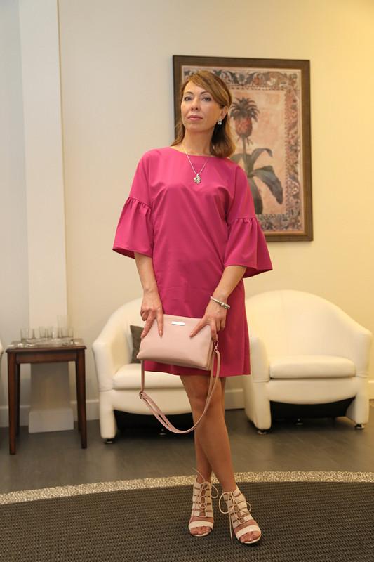 Мини-платье своланами