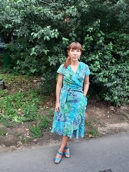 Работа с названием Ткань в этом платье главная
