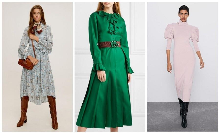 Модные платья зимы 2019-2020: 5 трендов дляинтересных образов