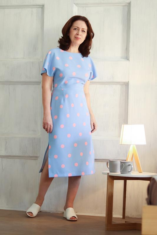 Платье врозовый горох от Похващева Ирина