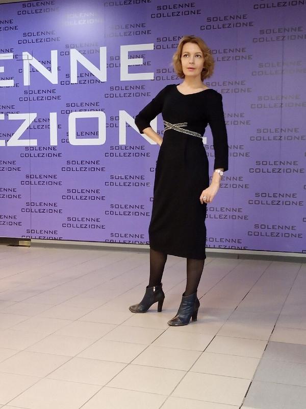Черное платье от Савирина