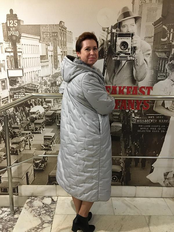 В киноцентре «Соловей» вновом стёганом пальто