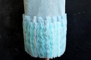 Морская акварель: «волнующий» декор тесьмами из мягкой сетки