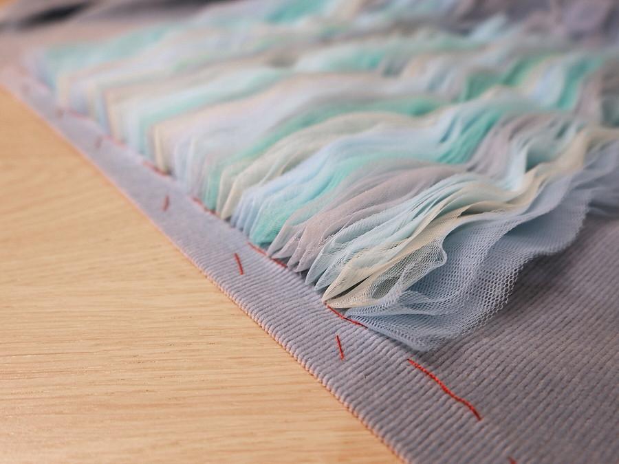 Морская акварель: «волнующий» декор тесьмами измягкой сетки