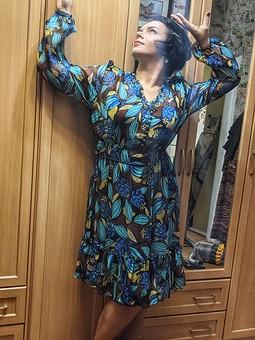 Работа с названием Платье из шифона из Burda 9/2009