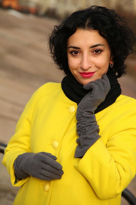 Пальто «Лимонный цвет отзимней хандры» от Garpia