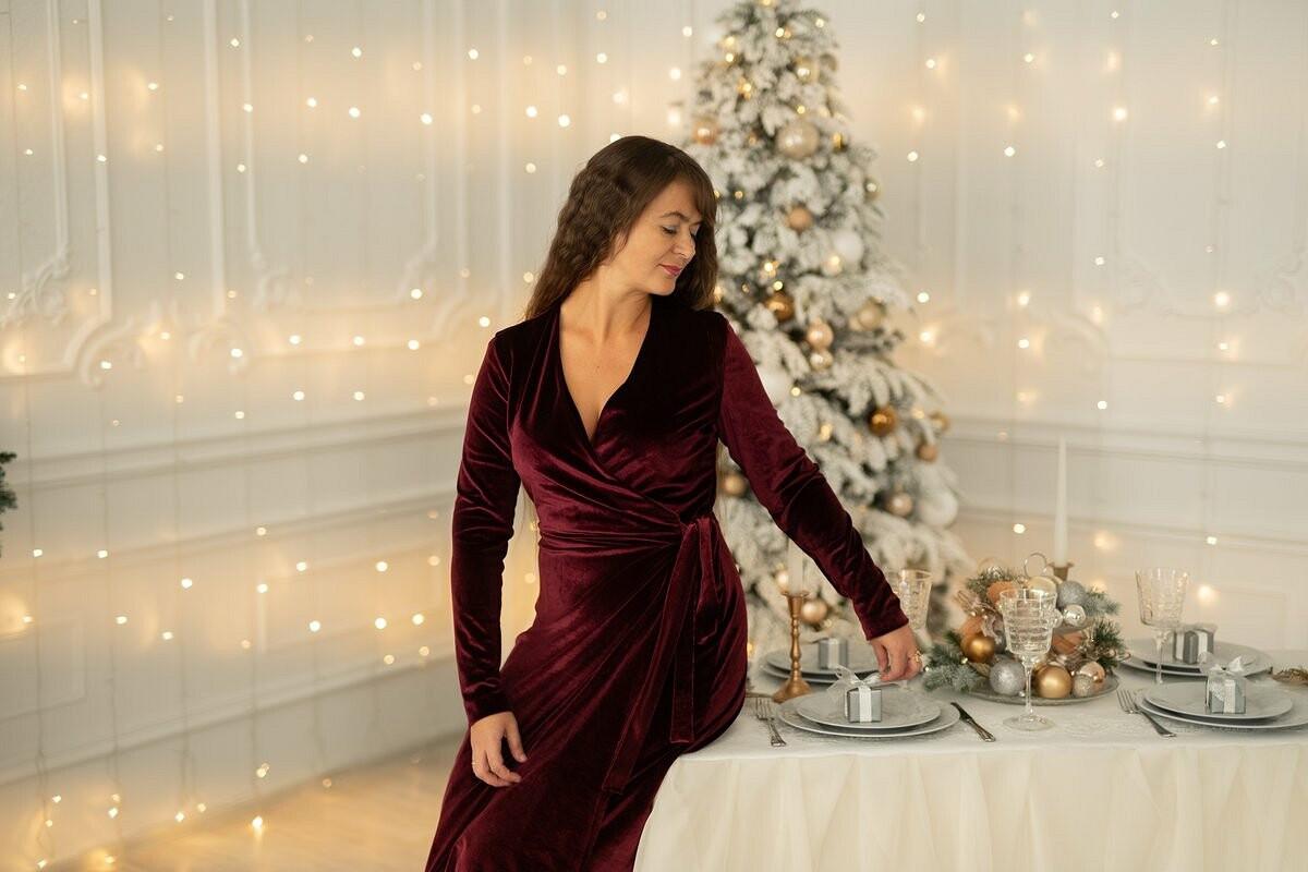 Платье «Бархатный Новый год»