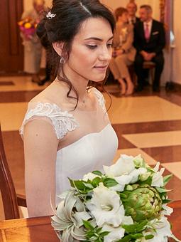 Работа с названием Платье первое и не последнее свадебное