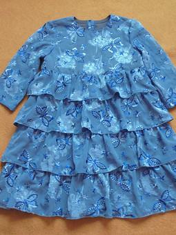 Работа с названием Платье четырёхъярусное с бабочками
