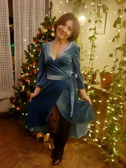 Работа с названием Бархатное платье-халат