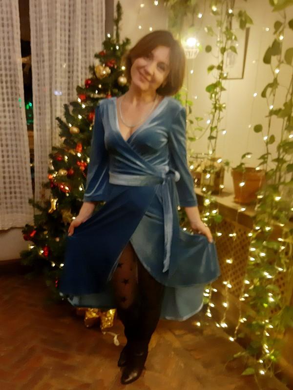 Бархатное платье-халат от Vikusik