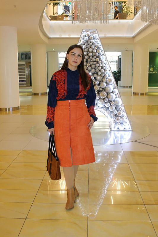 Терракотовая юбка от Вихтория