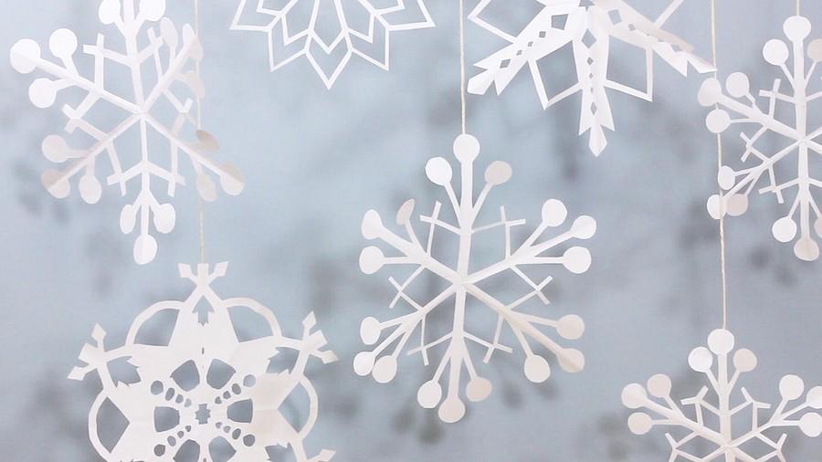 Самые красивые снежинки избумаги: 40 шаблонов разной сложности