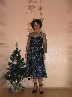 Работа с названием Платье на НГ + сумочка