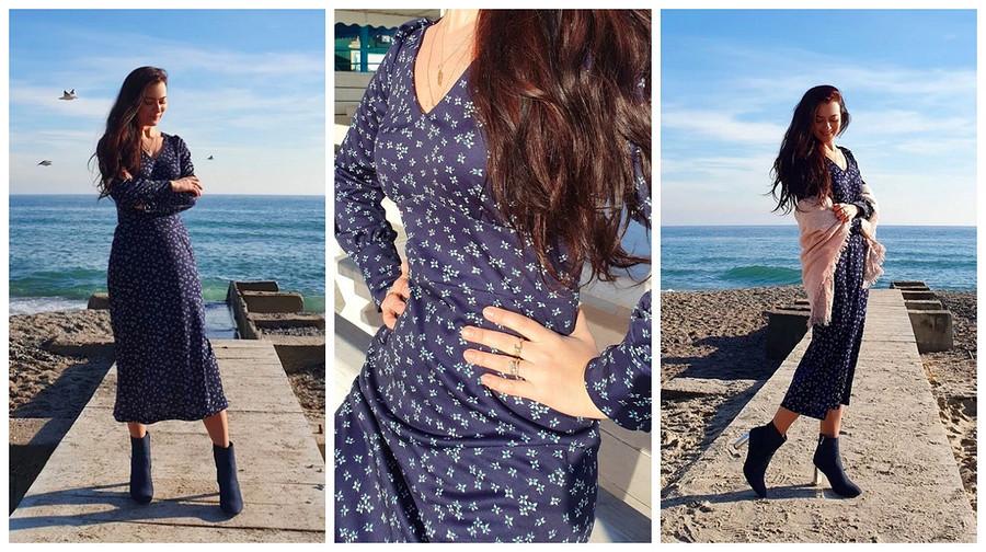 Выкройка месяца: струящееся платье сфигурным поясом