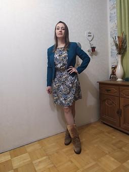 Работа с названием Платье из Burda 8/2018