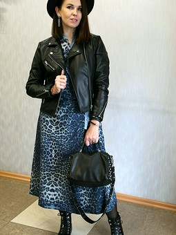 Работа с названием Платье в леопардовое пятнышко