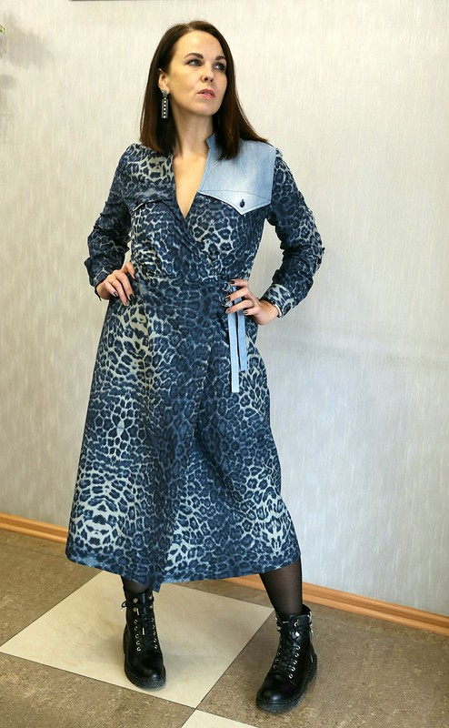 Платье влеопардовое пятнышко