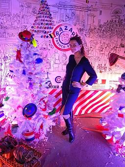 Работа с названием Платье на молнии: синее с серебром как рождественская ночь