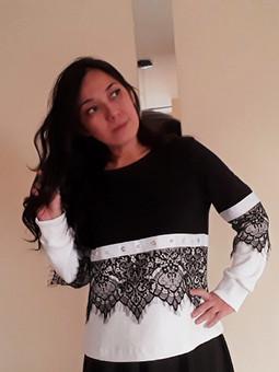 Работа с названием Мой вариант пуловера