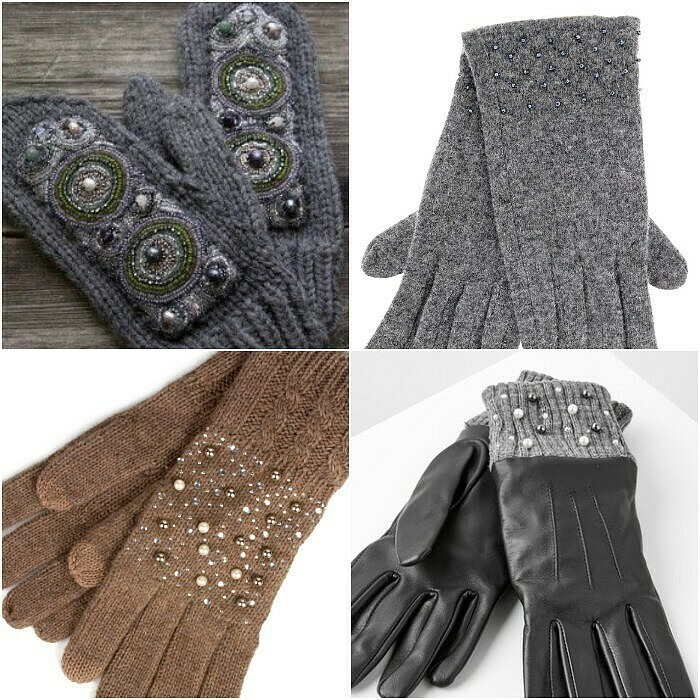 Как украсить перчатки, варежки, митенки: 7 способов
