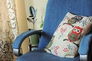 Как перетянуть компьютерное кресло с помощью старых джинсов: мастер-класс