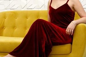Вечернее платье из бархата: шьём по выкройке Burda