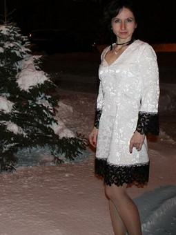 Работа с названием Бело-черный новый год!