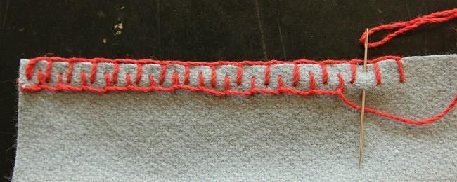 Декоративные швы дляобработки края пледа: 5 идей наоснове петельного шва