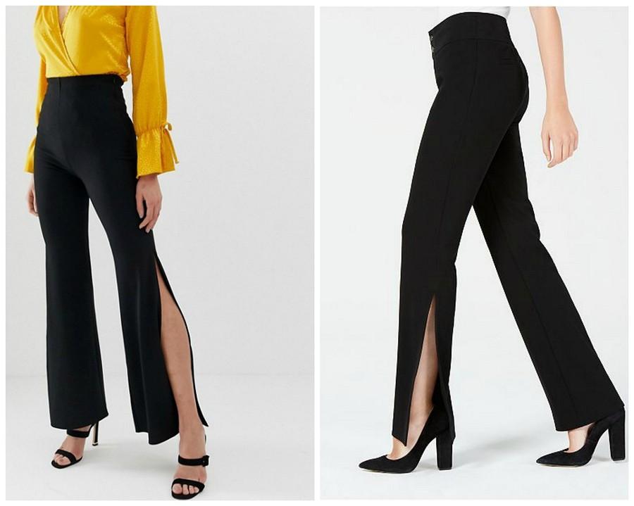 Тренд сезона: брюки сразрезами