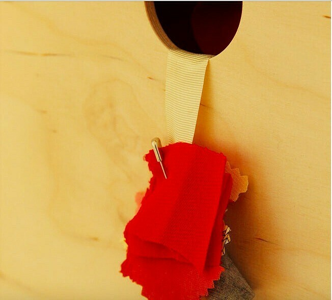 Лайфхак: хранение тканей вкоробках сэтикетками-образцами