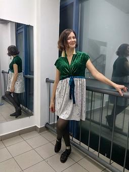 Работа с названием Платье из остатков на Новый год для беременных