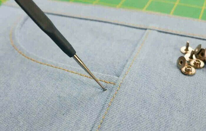 Как установить фурнитуру наджинсы: мастер-класс