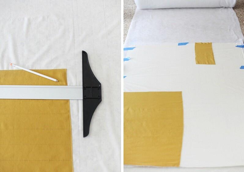 Идея: картина, сшитая изткани