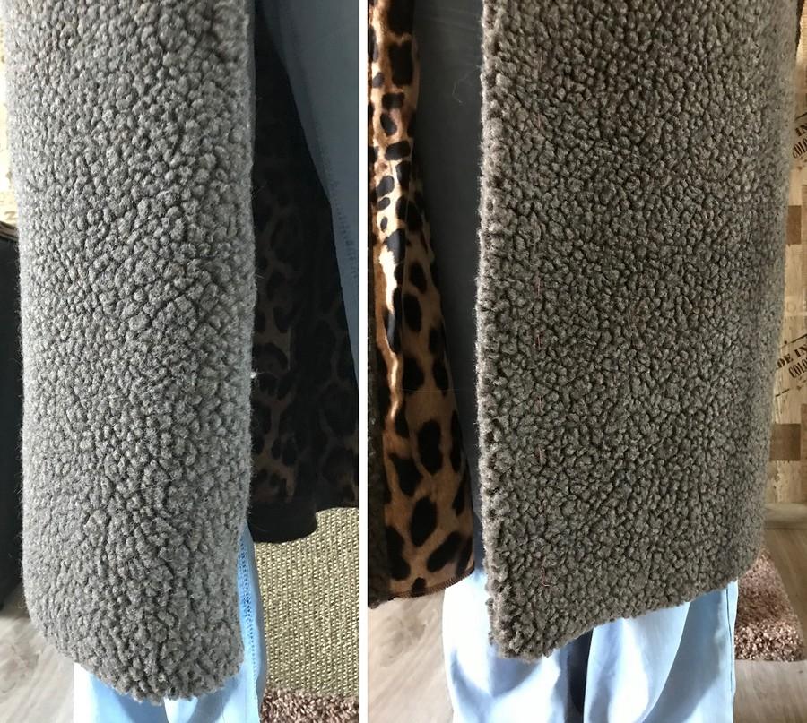 Проблема: край борта пальто заворачивается внутрь