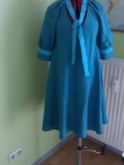 Работа с названием Льняное платье распашонка.