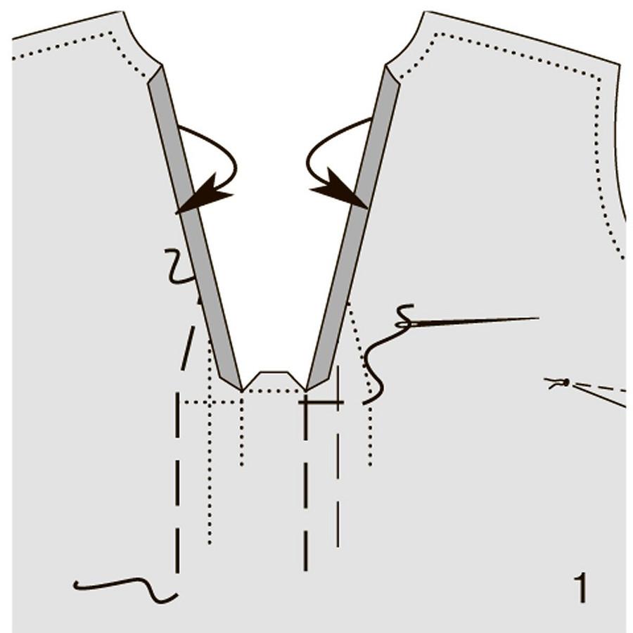 Обработка выреза соригинальной складкой