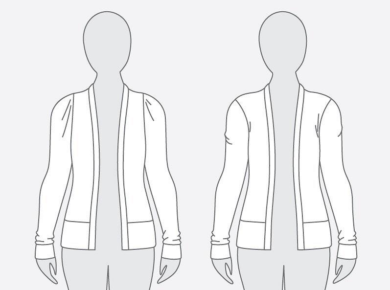 Корректировка выкройки: линия плеча