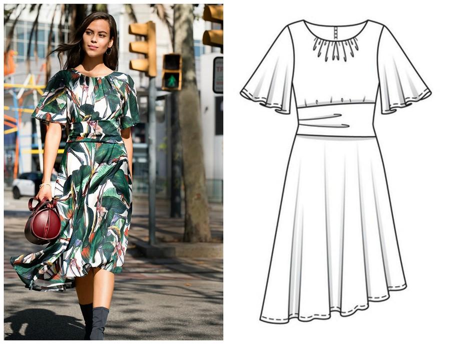 Выкройка месяца: летящее платье свесенним настроением