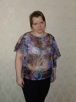 Работа с названием Блуза из шифона