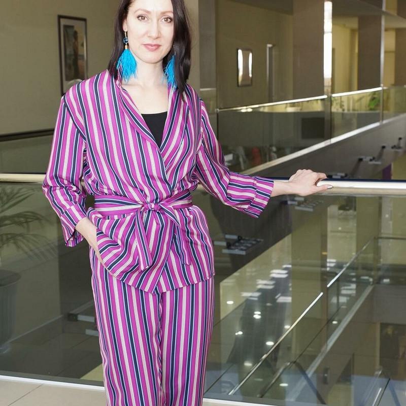 Пижамный костюм изитальянского шелка